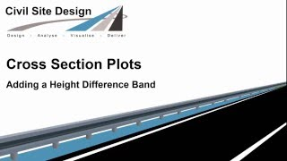 Cross Section Plots - Adding a Height Difference Band