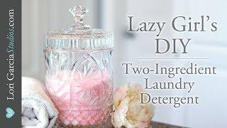 DIY Laundry Detergent: 2 ingredients! Easiest & Best!