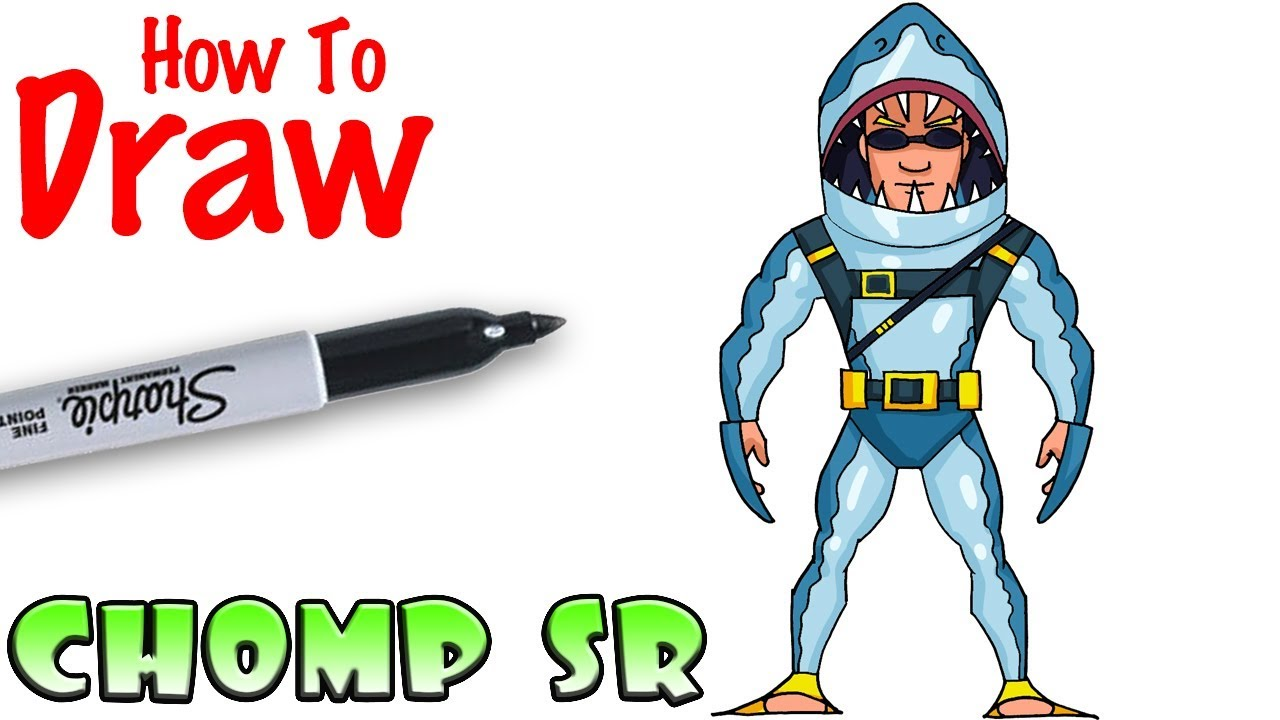 How To Draw Chomp Sr Fortnite Youtube