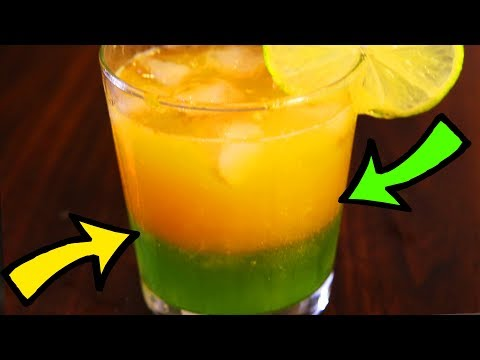 LAYERED JUICE LOVE POTION - ORANGE & LIME FANCY PARTY DRINK