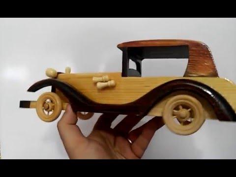 a9faa483780 Carro Antigo de Madeira Miniatura - YouTube