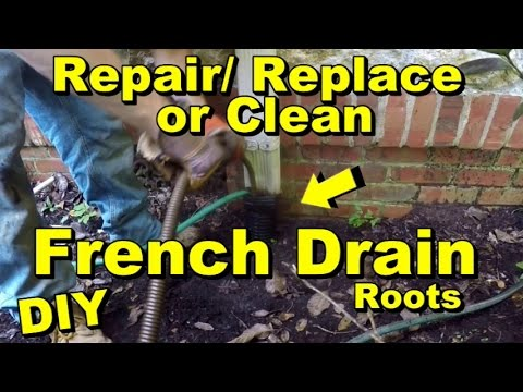 French Drain How To Clean Repair Replace Corrugated