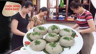 Làm bánh ít trần nhân tôm thịt (gia đình miền tây) #namviet