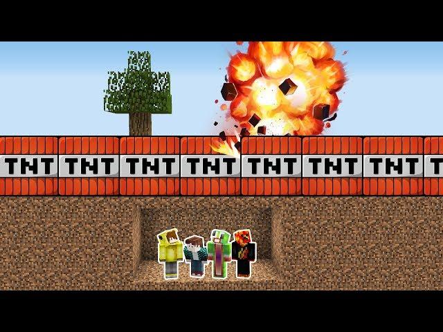 Minecraft TNTLER'E KARŞI %100 GÜVENLİ SIĞINAK!