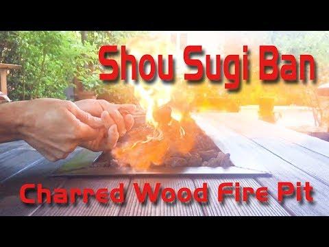 Shou Sugi Ban Charred Wood Fire Pit