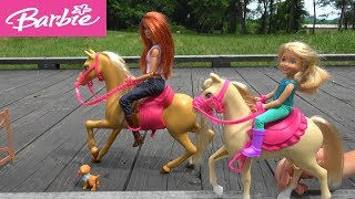 Barbie and Ken Vacation Story: Barbie Outdoor Adventure with Horseback Riding, Kayaking, Swimming