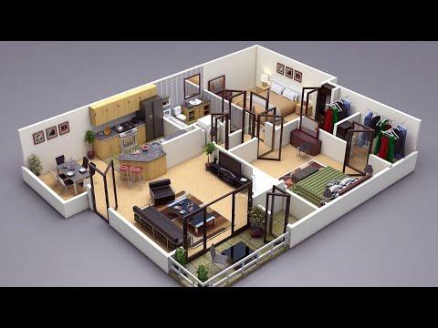 Modern 3d House Plan Designs 2020, How To Make A House Plan 3d