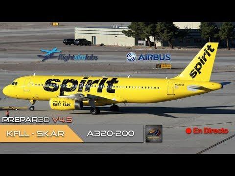 DIRECTO [P3Dv4.5] FSLabs A320-200 | KFLL - SKAR | IVAO (ESP/ENG)
