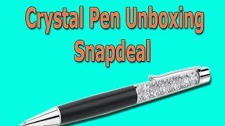 Crystal Pen Unboxing Ballpoint Pen, Black | By Snapdeal