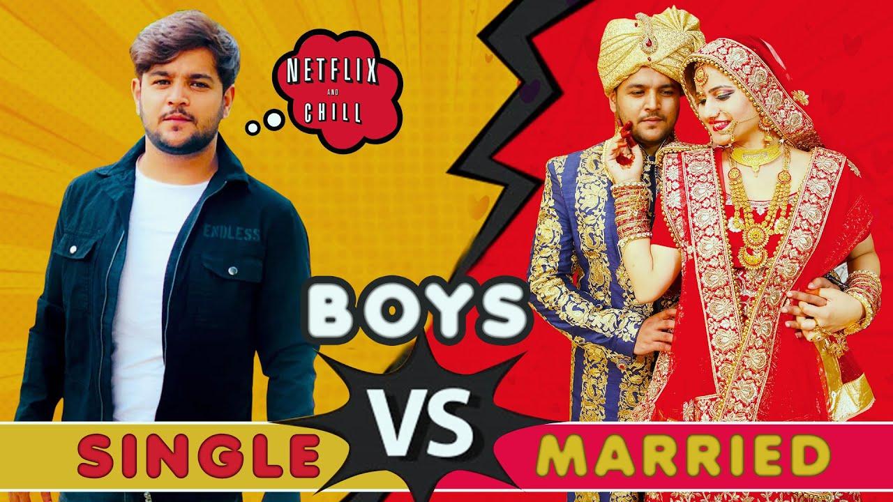 BOYS - SINGLE VS MARRIED || Virat Beniwal || @Namra Qadir