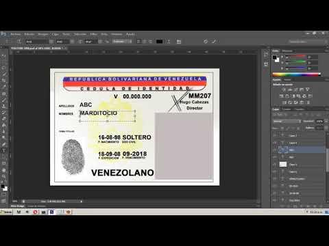 Cedula Venezolana Personalizar Y/o Editar