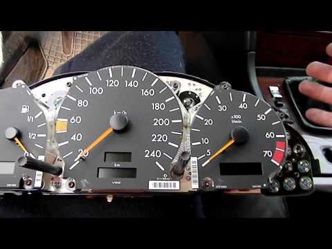 Mercedes C Class C180 W202  ремонт панели приборов пайка