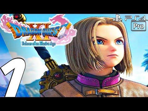 DRAGON QUEST XI - English Walkthrough Part 1 - Prologue (Full Game) PS4 PRO