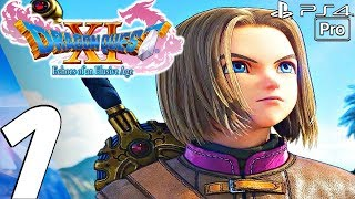DRAGON QUEST XI English Walkthrough Part 1 Prologue PS4 PRO