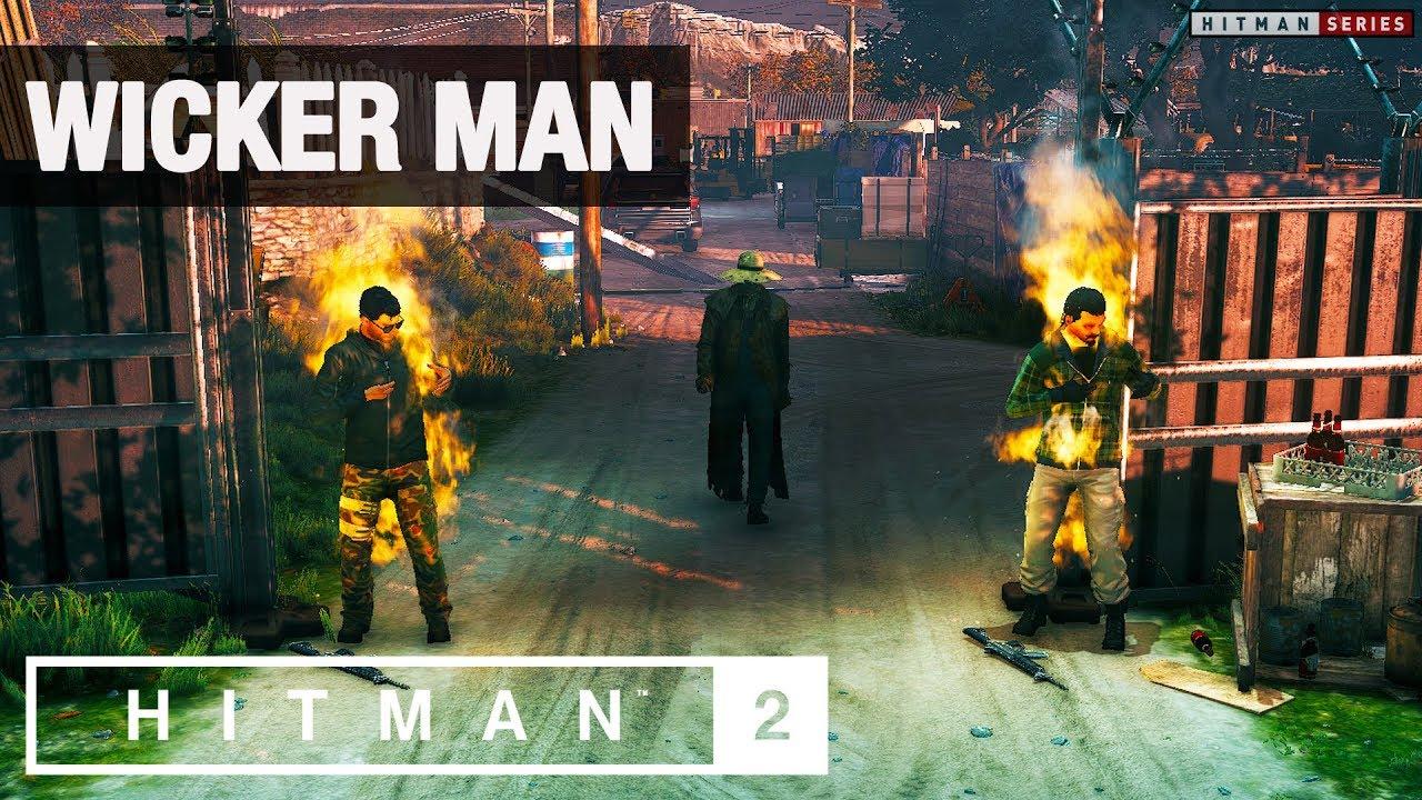 """HITMAN 2 - """"Wicker Man"""" Challenge (Easter Egg)"""