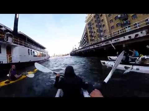 London Thames canoe trip