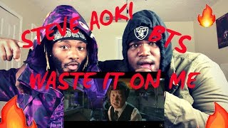 Steve Aoki - Waste It On Me feat. BTS (Official Video) (REACTION) | THE BUMS