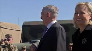 Mattis, Nielsen address US troops at border