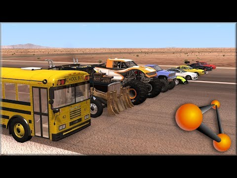 BeamNG Drive - Node Pull - What Vehicle Will Pull the Furthest