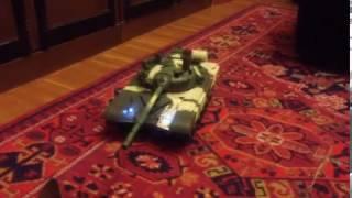 Кошка против  ТАНК а Т-72. deagostini rc