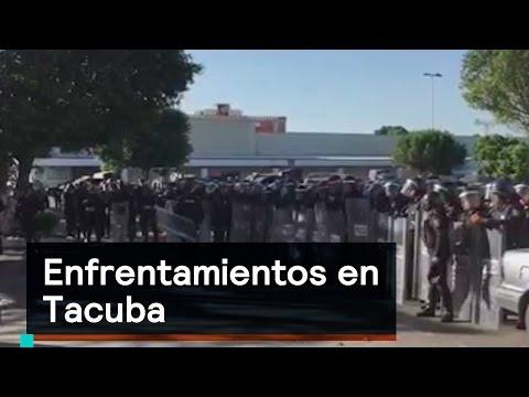 Enfrentamientos en Tacuba - Saqueos