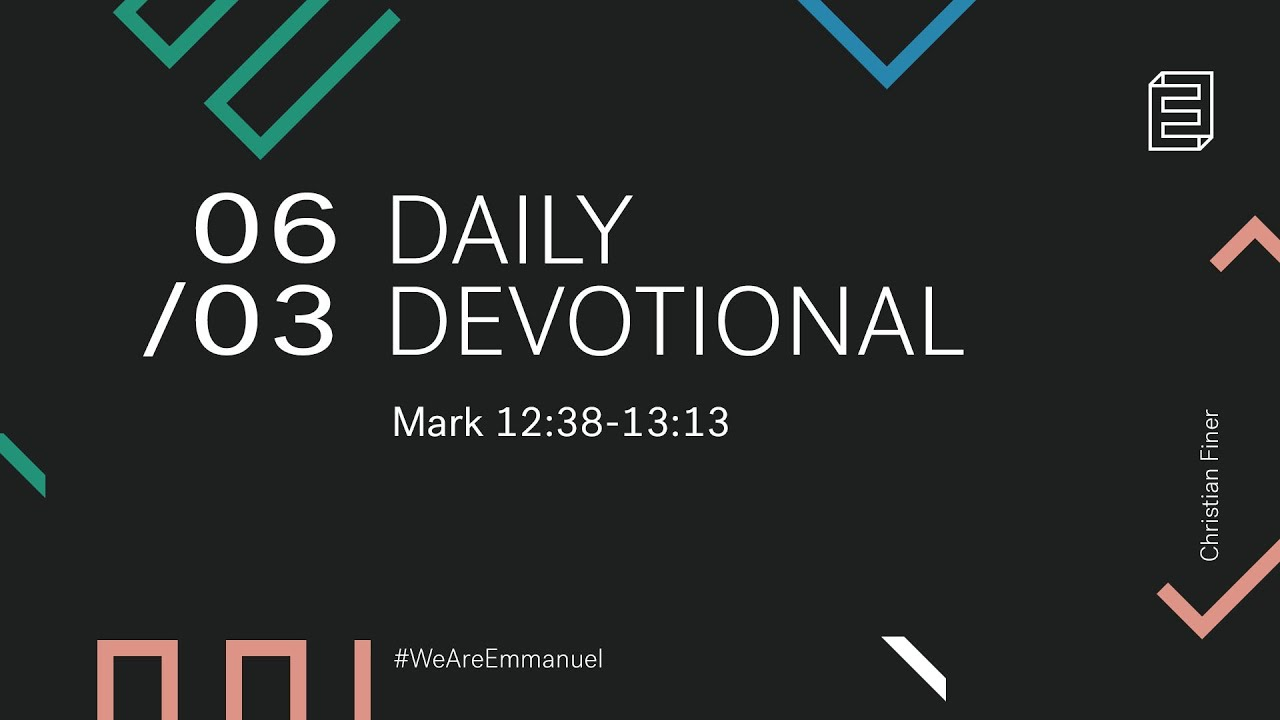 Daily Devotion with Christian Finer // Mark 13:1-13 Cover Image