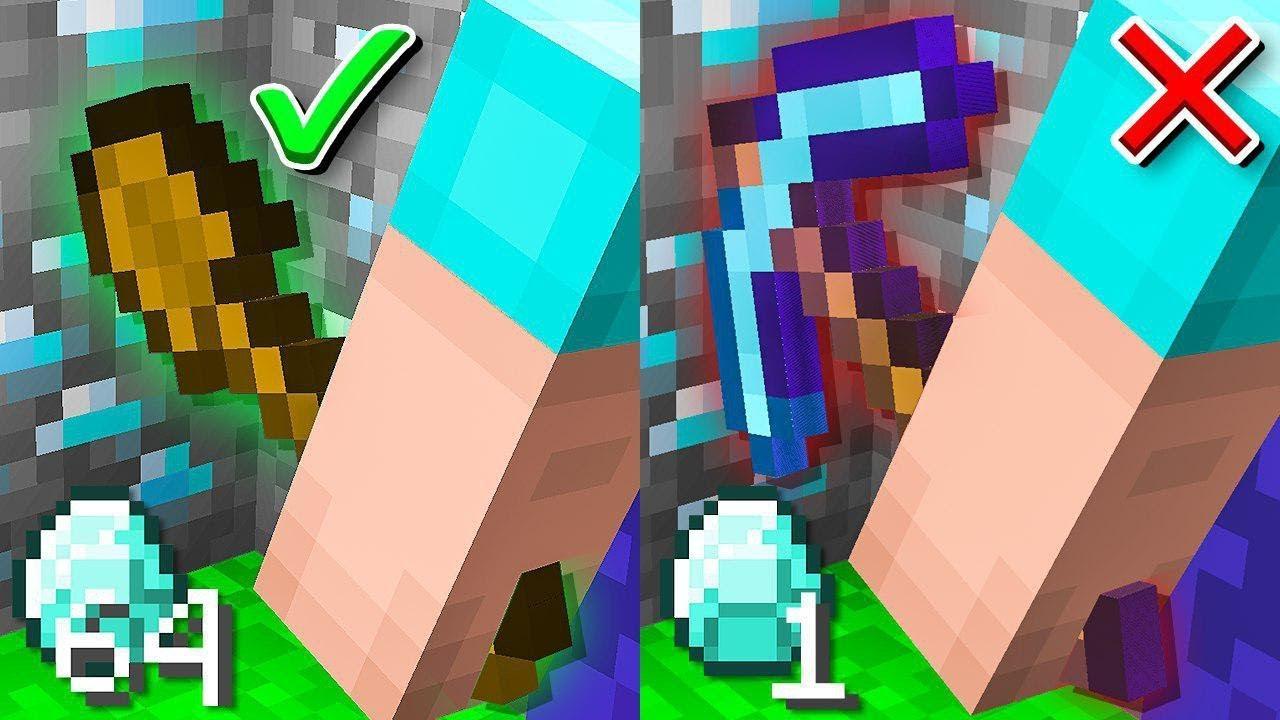 overpowered-shovel-vs-normal-pickaxe-minecraft-jail-break-10