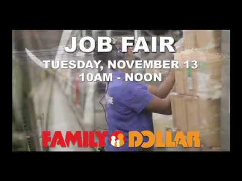 Family Dollar Distribution Center Job Fair 11-13-18