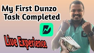 My First Dunzo Task Completed || Full Information  || Live Experience || In Kannada || 2021 screenshot 4