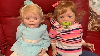 We got some cute reborn baby dolls!