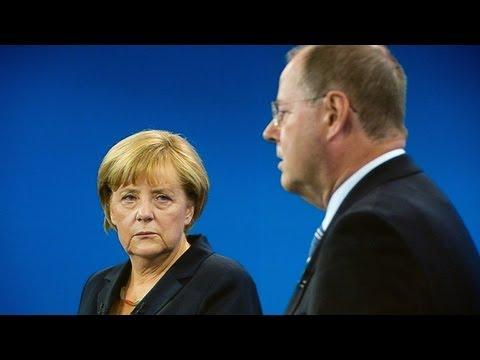 Angela Merkel defends Greek austerity measures in leadership debate