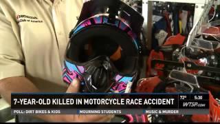 Boy killed in dirt bike race despite wearing protective gear