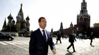 Медведев танцует возле КРЕМЛЯ!(Video uploaded from my phone., 2011-05-12T17:39:23.000Z)