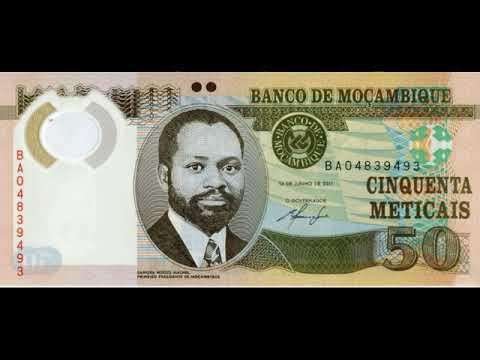 Paper money of Mozambique is Metical Mozambique - banknote - banknotes