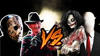 Freddy y Jason vs Slenderman y Jeff the killer (Tramzeta, AdriRosan, Shado)