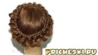 Плетение кос  Очень красивое и необычное плетение косы вокруг головы  Коса вокруг головы, видео # 2