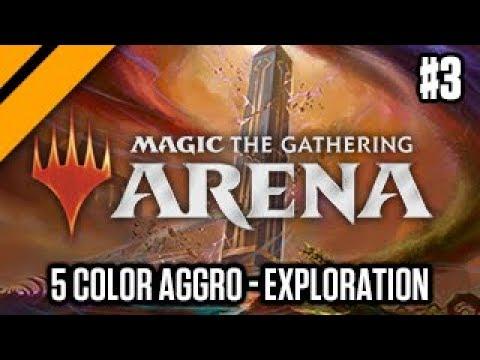 MTG:Arena - Forcing 5 Color Aggro | M19 Exploration Drafts P3 (sponsored)