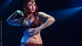 Ashley Lopez performs belly dance at The Massive Spectacular! Las Vegas