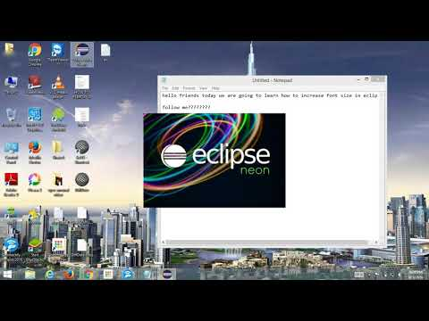 How to Increase font size in eclipse JAVA | chage font size