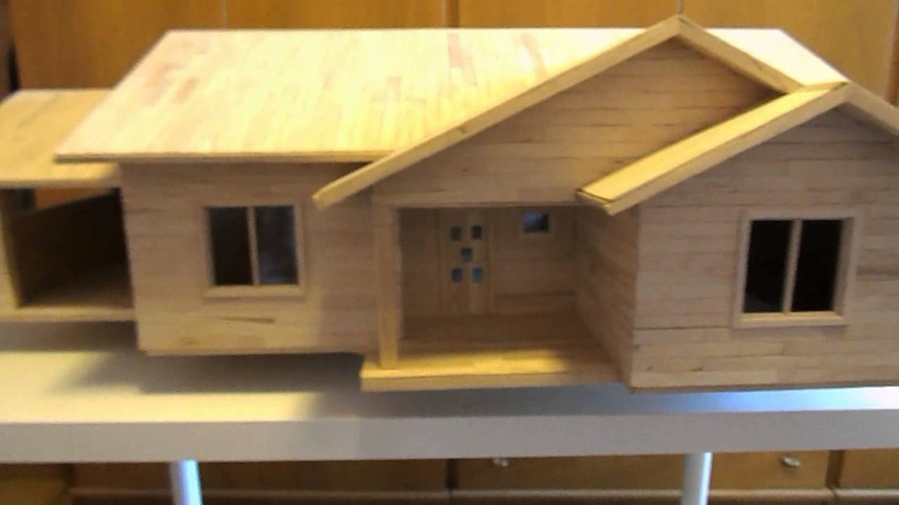 8 popsicle stick house build mini casa construita din for Time to build a house