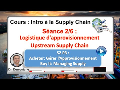 S2_P3 Logistique d'approvisionnement & Upstream Supply Chain