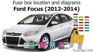 fuse box location and diagrams: ford focus (2012-2014) - youtube  youtube