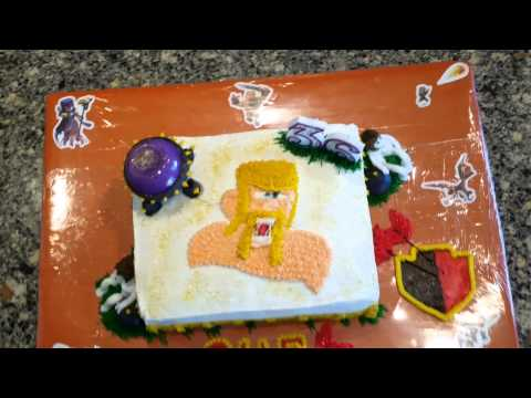 Clash of clans  birthday cake!