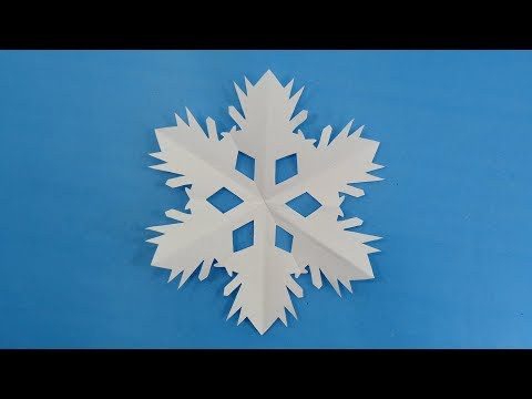 How To Make Paper Christmas Tree Design Snowflakes - DIY Simple Paper Flower