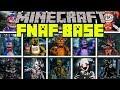 Minecraft FIVE NIGHTS AT FREDDYS MOD | FNAF MONSTER BASE CHALLENGE! | Modded Mini-Game (Education)