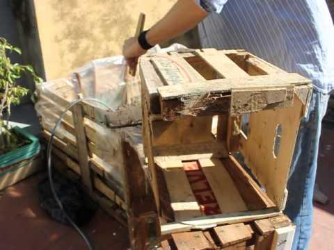 Terraza huerta urbana armado de maceta con madera - Como fabricar maceteros de madera ...