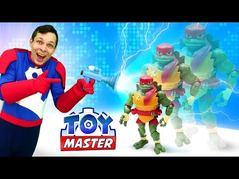 Игры для мальчиков - Черепашек Ниндзя уменьшили! – Новое онлайн видео Шоу Той Мастер.