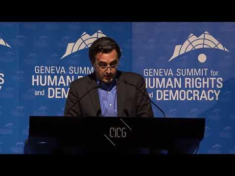Maziar Bahari at Geneva Summit 2018