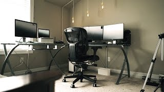 ULTIMATE MINIMALIST EDITING OFFICE SETUP TOUR