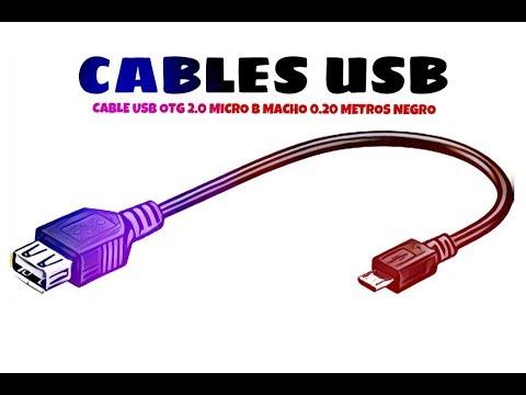 Video de Cable USB otg 2.0 micro B macho 0.20 M Negro